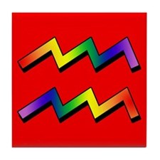 GLBT Aquarius r Tile Coaster