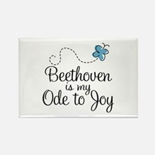 Beethoven Ode To Joy Rectangle Magnet