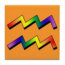 GLBT Aquarius o Tile Coaster