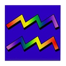 GLBT Aquarius b Tile Coaster