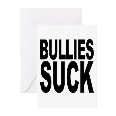 Bullies Suck Greeting Cards (Pk of 10)