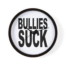 Bullies Suck Wall Clock