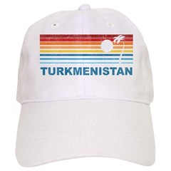 Retro Palm Tree Turkmenistan Baseball Cap