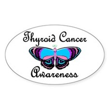 Butterfly Awareness 2 (Thyroid Cancer) Decal