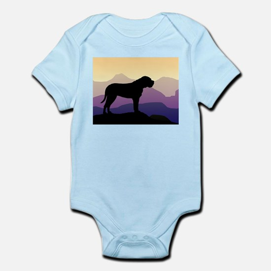 Purple Mountains Bullmastiff Infant Bodysuit