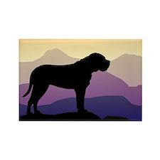 Purple Mountains Bullmastiff Rectangle Magnet