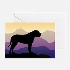 Purple Mountains Bullmastiff Greeting Card