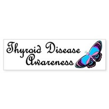 Butterfly Awareness 2 (Thyroid Disease) Bumper Sticker