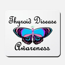 Butterfly Awareness 2 (Thyroid Disease) Mousepad