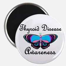 "Butterfly Awareness 2 (Thyroid Disease) 2.25"" Magn"