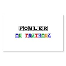 Fowler In Training Rectangle Decal