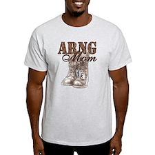 ARNG Mom Combat Boots N Dog Tags T-Shirt