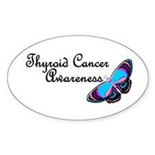 Butterfly Awareness 3 (Thyroid Cancer) Decal