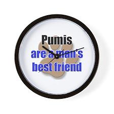 Pumis man's best friend Wall Clock