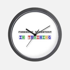Forensic Scientist In Training Wall Clock