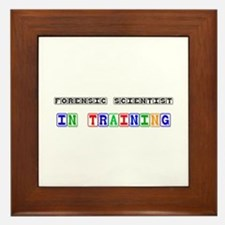 Forensic Scientist In Training Framed Tile