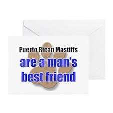 Puerto Rican Mastiffs man's best friend Greeting C