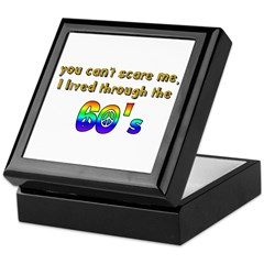 you can't scare me..60's Keepsake Box