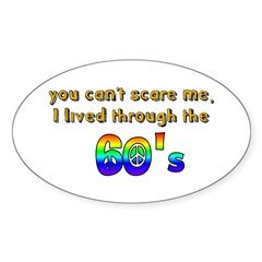 you can't scare me..60's Decal