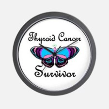 Butterfly Survivor 1 (Thyroid Cancer) Wall Clock