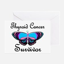 Butterfly Survivor 1 (Thyroid Cancer) Greeting Car