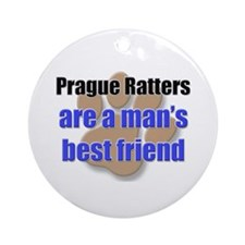 Prague Ratters man's best friend Ornament (Round)