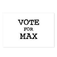 Vote for Max Postcards (Package of 8)