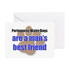Portuguese Water Dogs man's best friend Greeting C