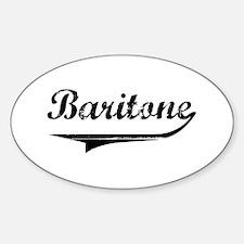 Baritone Swish Oval Decal