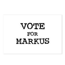 Vote for Markus Postcards (Package of 8)
