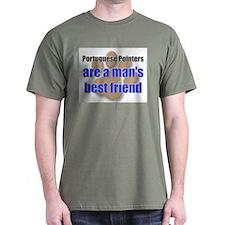 Portuguese Pointers man's best friend T-Shirt
