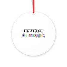 Flutist In Training Ornament (Round)