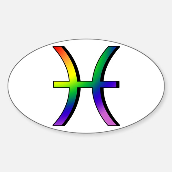 GLBT Pisces Oval Decal