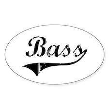 Bass Swish Oval Sticker (10 pk)