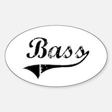 Bass Swish Oval Decal