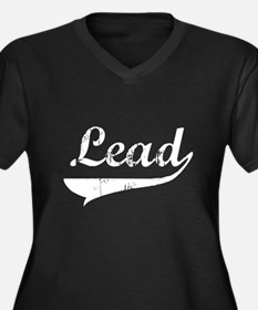 Lead Swish Women's Plus Size V-Neck Dark T-Shirt