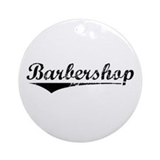 barbershop Ornament (Round)