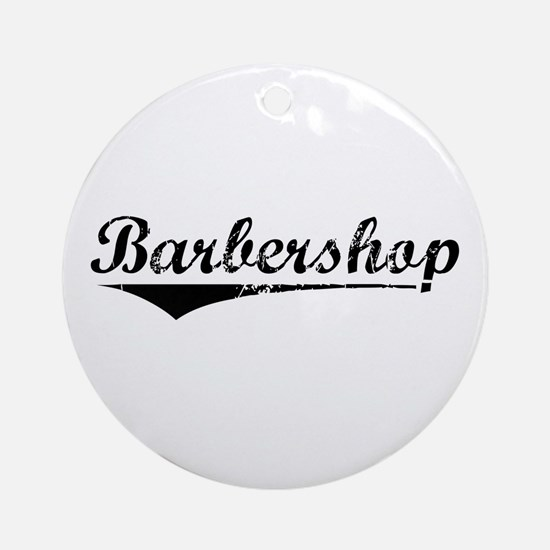 barbershop Ornament (Round)