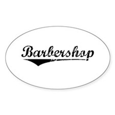 barbershop Sticker (Oval)