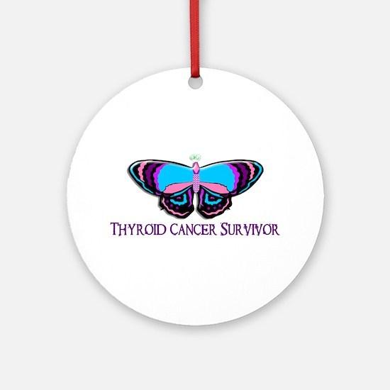 Butterfly Survivor 2 (Thyroid Cancer) Ornament (Ro