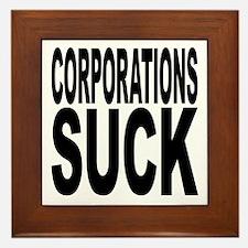 Corporations Suck Framed Tile