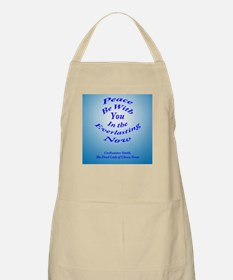 Peace Be With You (blue background) BBQ Apron