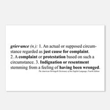"""""""Grievance"""" Postcards (Package of 8)"""