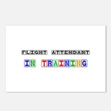 Flight Attendant In Training Postcards (Package of