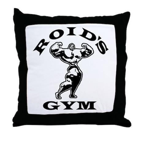 Roid's Gym Throw Pillow