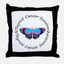 Butterfly Survivor 3 (Thyroid Cancer) Throw Pillow