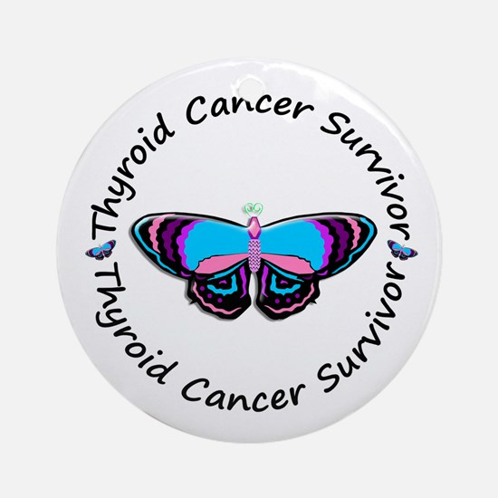 Butterfly Survivor 3 (Thyroid Cancer) Ornament (Ro