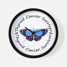 Butterfly Survivor 3 (Thyroid Cancer) Wall Clock