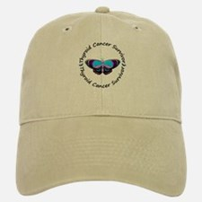 Butterfly Survivor 3 (Thyroid Cancer) Baseball Baseball Cap