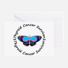 Butterfly Survivor 3 (Thyroid Cancer) Greeting Car
